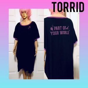 Torrid Disney Little Mermaid Shirt Dress 5X Plus